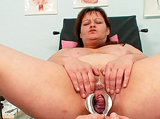 Svetlana - close-up, medical, busty, fat, gyno, gynecologist