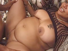 Candy Love - blowjob, black, cumshot, fishnet, fat, hardcore