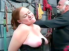 fingering, redhead, chubby, ass, toys, rope, domination