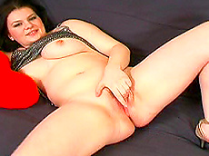 Jessica - brunette, fingering, shaved pussy, chubby, panties, solo girl
