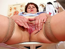 Fany - stockings, medical, short hair, fat, pussy, HD