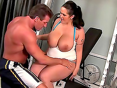 Carmella Bing, Lee Stone - big tits, blowjob, on top, doggy style, tattoo, BBW, facial